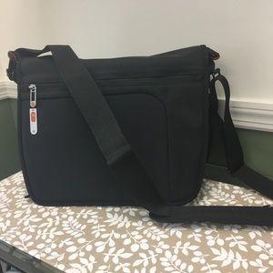 Jansport Black Network Messenger Bag
